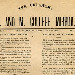 "First college newspaper ""Mirror"" published"