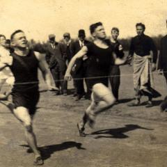Track team was first organized sport