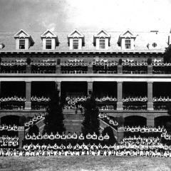 First dormitories on campus occupied