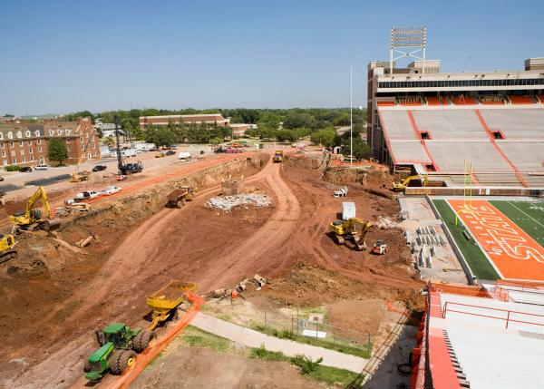 Renovation work starts on Boone Pickens Stadium