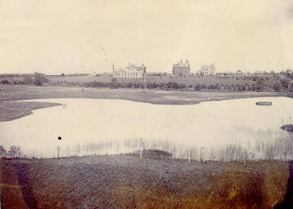 Theta Pond was a watering hole for horses