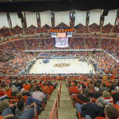 Gallagher-Iba Arena completes a major expansion in 2000